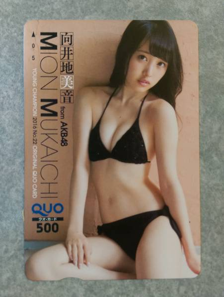 ◆AKB48向井地美音QUOカード台紙付き②【即決】 ライブ・総選挙グッズの画像