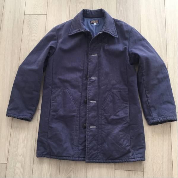 中古 ブルーブルー インディゴ コート サイズ 2 ハリラン Blue Blue H.R. Market ハリウッドランチマーケット 聖林公司_画像1