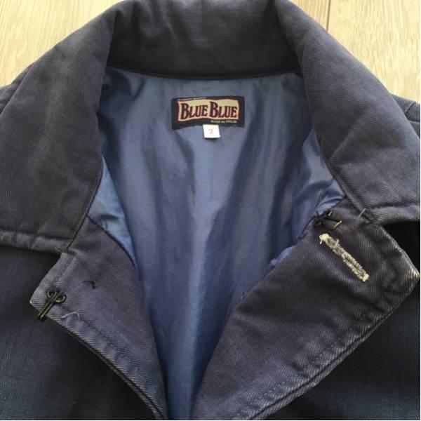 中古 ブルーブルー インディゴ コート サイズ 2 ハリラン Blue Blue H.R. Market ハリウッドランチマーケット 聖林公司_画像3