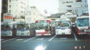 静岡鉄道のバスの写真、新静岡バスセンターと国鉄清水駅前にて撮