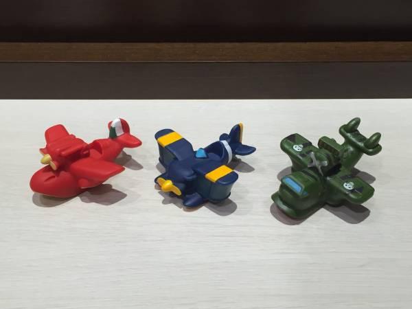 即決∞ジブリ∞紅の豚∞ソフビ∞飛行艇3機セット∞サボイアS-21・カーチスR3C-0・ダボハゼ∞新品未使用∞ グッズの画像