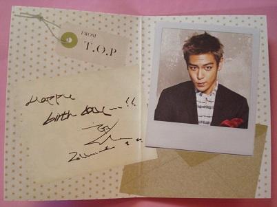 BIGBANG VIP JAPAN バースデー カード TOP T.O.P たぷ トップ チェ・スンヒョン