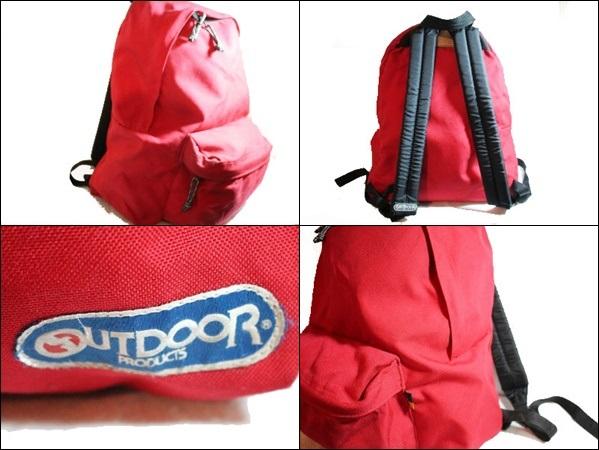 OUTDOOR PRODUCTS アウトドアプロダクツ リュックサック バックパック 赤 鞄 ビンテージ ヴィンテージ USA 古着 オールド DA117_画像2