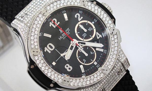 watch b9293 fc952 HUBLOT ウブロ ビッグバン ベゼル ラグ アフターダイヤ加工します ブラックマジック エボリューション クロノグラフ  301.SM.1770.RX SS