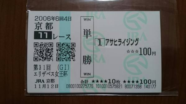 2006年 エリザベス女王杯 全出走馬16頭セット フサイチパンドラ JRA京都_画像2
