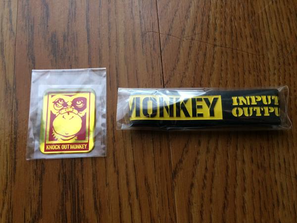 KNOCK OUT MONKEY 購入特典 ぷっくりステッカー+ラバーバンド