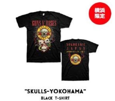 即決 横浜限定 日本限定SサイズGUNS N' ROSESツアーTシャツ TOUR 2017 ガンズ アンド ローゼズ アクセル・ローズAxl RoseスラッシュSlash_画像3