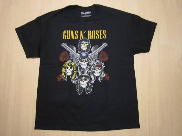XLサイズ 即決 GUNS N' ROSES ツアー限定TシャツTOUR 2017 ガンズ アンド ローゼズ スラッシュSlashアクセル・ローズAxl Rose 横浜で購入