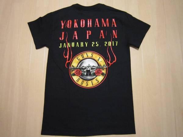 即決 横浜限定 日本限定SサイズGUNS N' ROSESツアーTシャツ TOUR 2017 ガンズ アンド ローゼズ アクセル・ローズAxl RoseスラッシュSlash_画像2