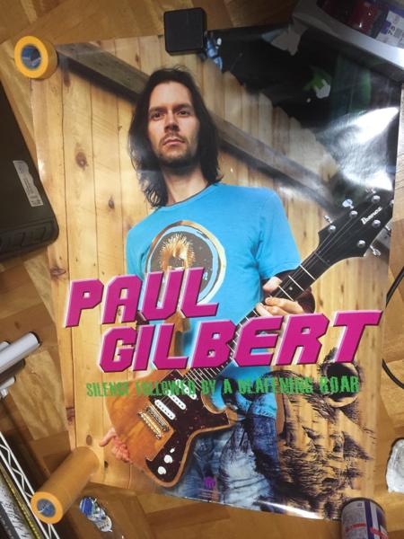 ポール・ギルバート PAUL GILBERT A1ポスター 非売品