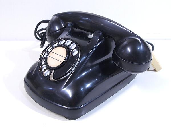 昭和レトロ アンティーク■1968年 電電公社 黒電話 4号A自動式 珍品 マークなし 動作品■希少_画像2