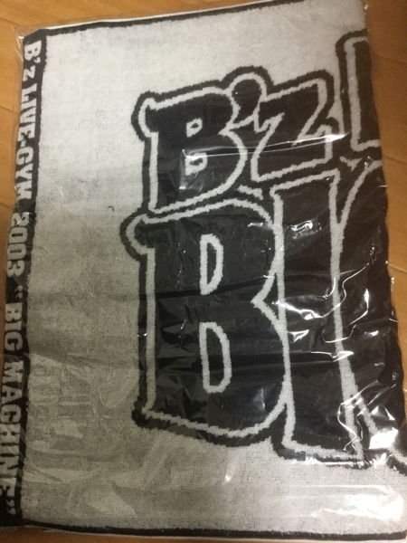 B'z ツアータオル LIVE-GYM 2003 BIG MACHINE 未開封
