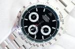 未使用■エルジン ELGIN クロノグラフ 200m防水 メンズ男性腕時計 作動良好 クォーツ 黒文字盤