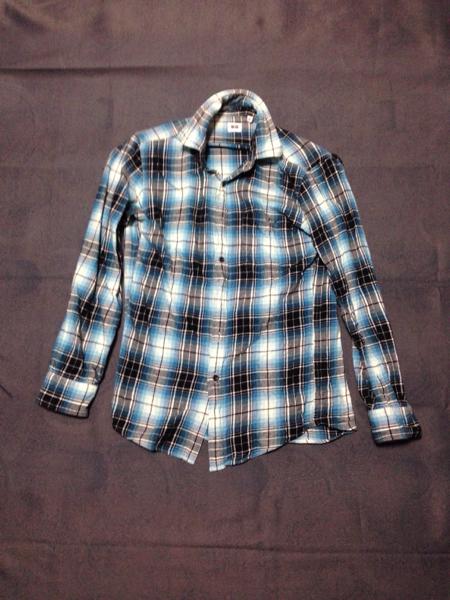 ネルシャツ チェックシャツ S_画像1
