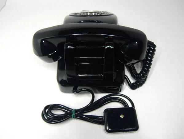 レトロ ダイヤル 黒電話機 650-A1 NTR3102 差込プラグ付_画像2