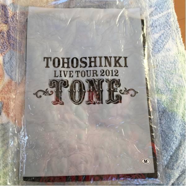 東方神起 LIVE TOUR 2012 TONE Tシャツ 黒 ファスナーケース入り Mサイズ 送料無料 ユノ チャンミン TVXQ ライブグッズの画像