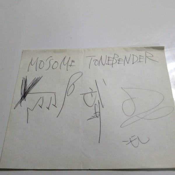 Mo'some Tonebender メンバー全員のサイン