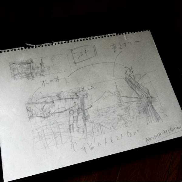 西野亮廣(にしのあきひろ) サイン入りラフ原画