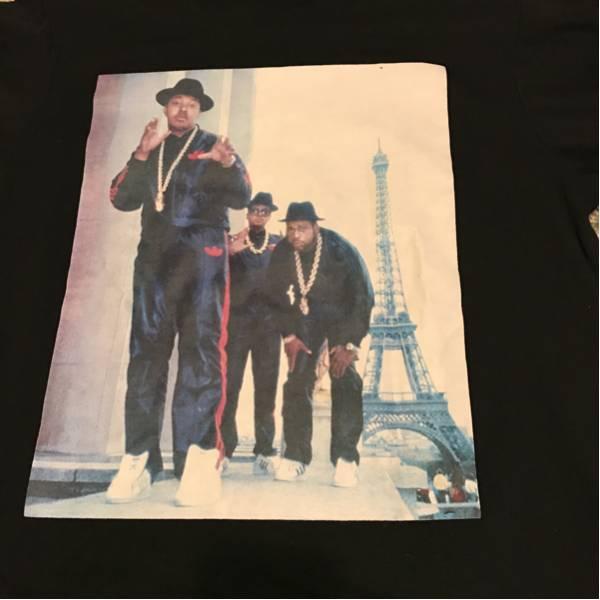 ヒップホップ写真家:リッキーパウエルRicky Powell RUN DMC ロングスリーブTシャツ 長袖Tシャツ