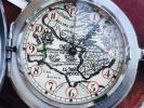 ★旧ソビエト連邦モルニヤ★ドラゴンレーダーみたいな地図文字盤 ロマン溢れるアンティーク懐中時計スモセコ手巻●快調