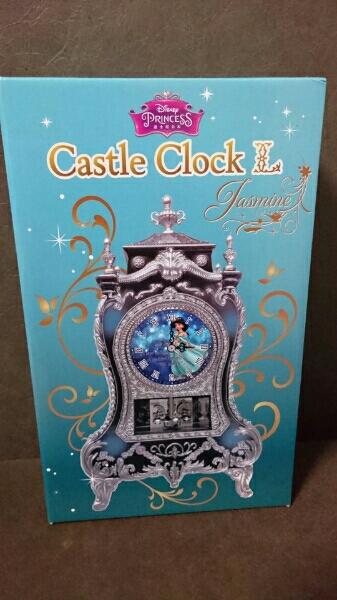 ディズニー キャッスルクロックL ジャスミン アラジン 置き時計 ディズニーグッズの画像