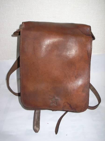 旧日本軍・☆印・革製カバン・鞄・リュックサック・当時物/美品