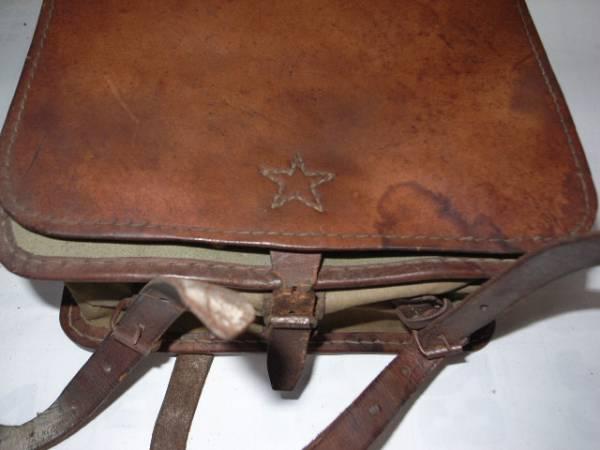 旧日本軍・☆印・革製カバン・鞄・リュックサック・当時物/美品_画像3