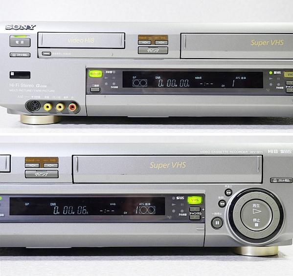 ソニー Hi8/S-VHS ビデオデッキ WV-ST1 ジャンク_画像2