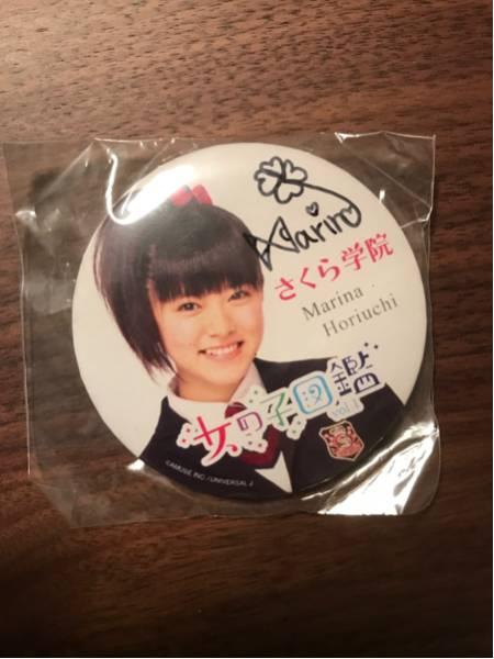 【超希少】さくら学院 堀内まり菜 女の子図鑑 缶バッジ サイン入