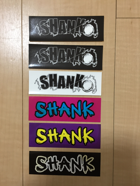 SHANK ステッカー 6枚セット シャンク