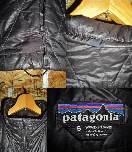 S パタゴニア Patagonia ナノパフジャケット 黒 10年製 希少 キルティング プリマロフト ナイロン_画像3