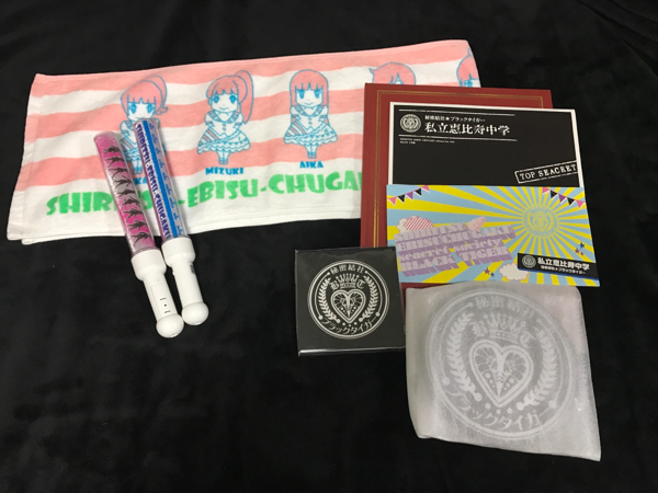 私立恵比寿中学 ペンライト タオルセット ライブグッズの画像