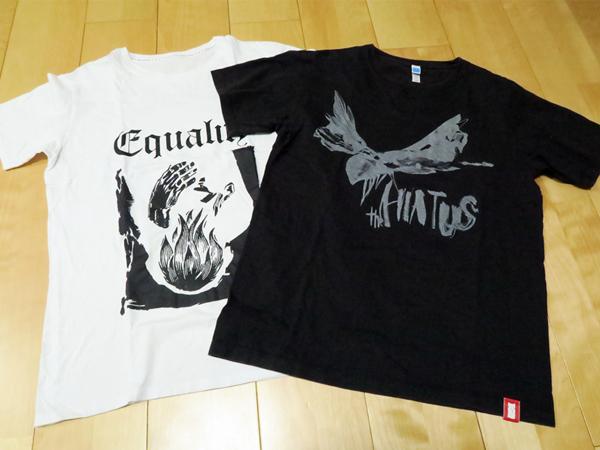 希少 2枚セット 初期ツアー the HIATUS Tシャツ M サイズ 細美武士 ハイエイタス バンドTシャツ ブラック 白 黒 MONOEYES モノアイズ LIVE