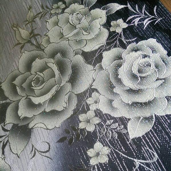 〔定価150万〕 〔未使用〕薔薇 輝き 袋帯_画像3