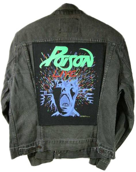 POISON 80'S デッドストック 特大 ワッペン ヴィンテージ BON JOVI ポイズン