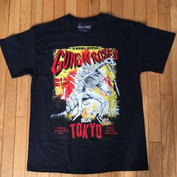 【完売】Guns N' Roses ガンズアンドローゼズ TOKYO ZILLA さいたまスーパーアリーナ公演 限定 TOKYO Ver. Tシャツ L ライブグッズの画像