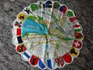 新品! スイス製 ヴィンテージ&レトロ ハンカチ (チューリッヒ地図,州旗)