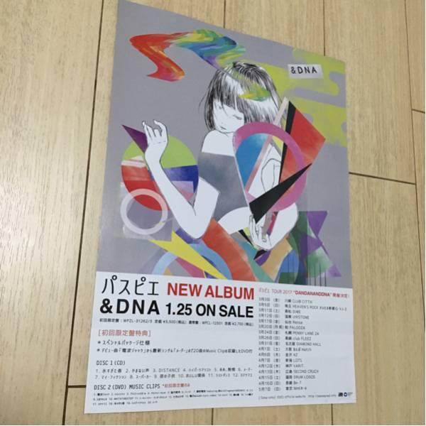 パスピエ cd 発売 告知 チラシ 2017 &dna ツアー dandananddna