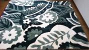 ☆未使用品 京都西川 ローズファーグラウンドワーク 羊皮 グリーン ラグマット 和室 洋室 ムートンラグ ファーカーペット 200×250☆