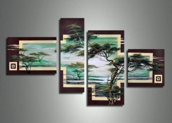 アートパネル 『松Ⅲ』 30x60cm、1枚他、計4枚組 手書き_画像1
