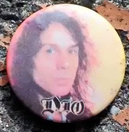 ロニー・ジェイムス・ディオ DIO 1980年代 ビンテージ缶バッジ