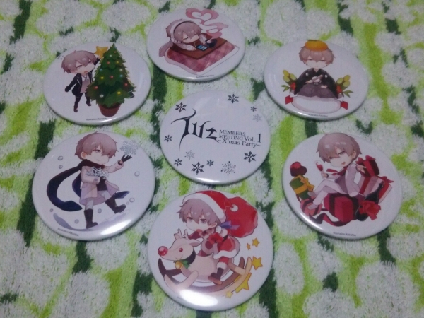luz 歌い手 / X'mas Party 缶バッジ全7種 / 歌い手 グッズ
