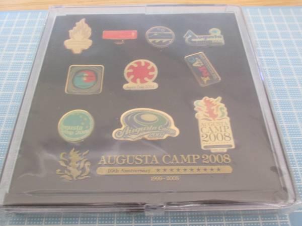オフィスオーガスタ「オーガスタキャンプ10周年記念ピンバッジ10個セット」(箱 付き)