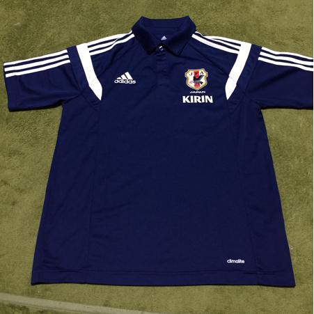 非売品 adidas 日本代表 支給品 移動用ポロシャツ condivo14 O