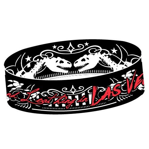 新品●Fear,and Loathing in Las Vegas ラバーバンド 赤●ラスベガス SiM coldrain WANIMA 10-FEET