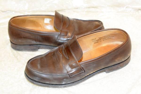 イギリス製 ダンヒル メンズ レザーソール ビジネスシューズ コインローファー ブラウン 正規品 本物 最高級 紳士 靴 _画像2