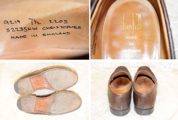 イギリス製 ダンヒル メンズ レザーソール ビジネスシューズ コインローファー ブラウン 正規品 本物 最高級 紳士 靴 _画像3