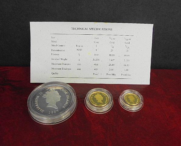 1997/ダイアナ/金貨/銀貨/プルーフ貨幣セット/全世界限定5,000個_画像3