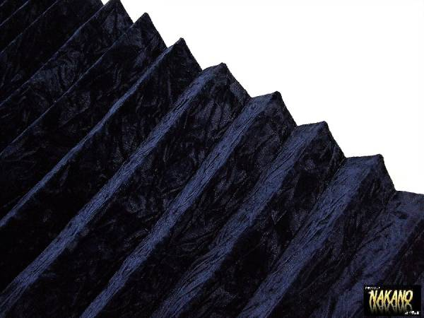 仮眠カーテン チンチラ ネイビー 遮光 最高級 金華山 チンチラベロア生地 プリーツ 暗幕加工 車中泊 安眠 長距離 魚屋 ダンプ 箱車 鮮魚車_画像1