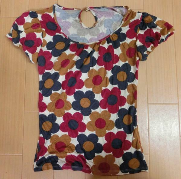 ☆SWORDFISH☆social features Puff Sleeve T-shirt floral print